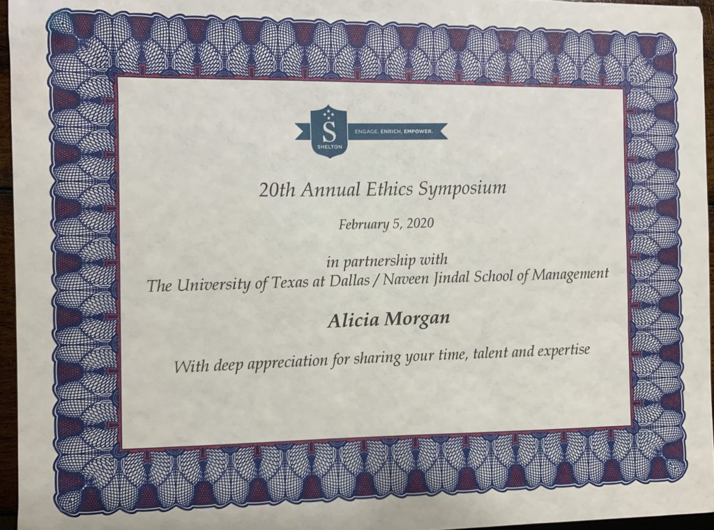 20th Annual Ethics Symposium UTD